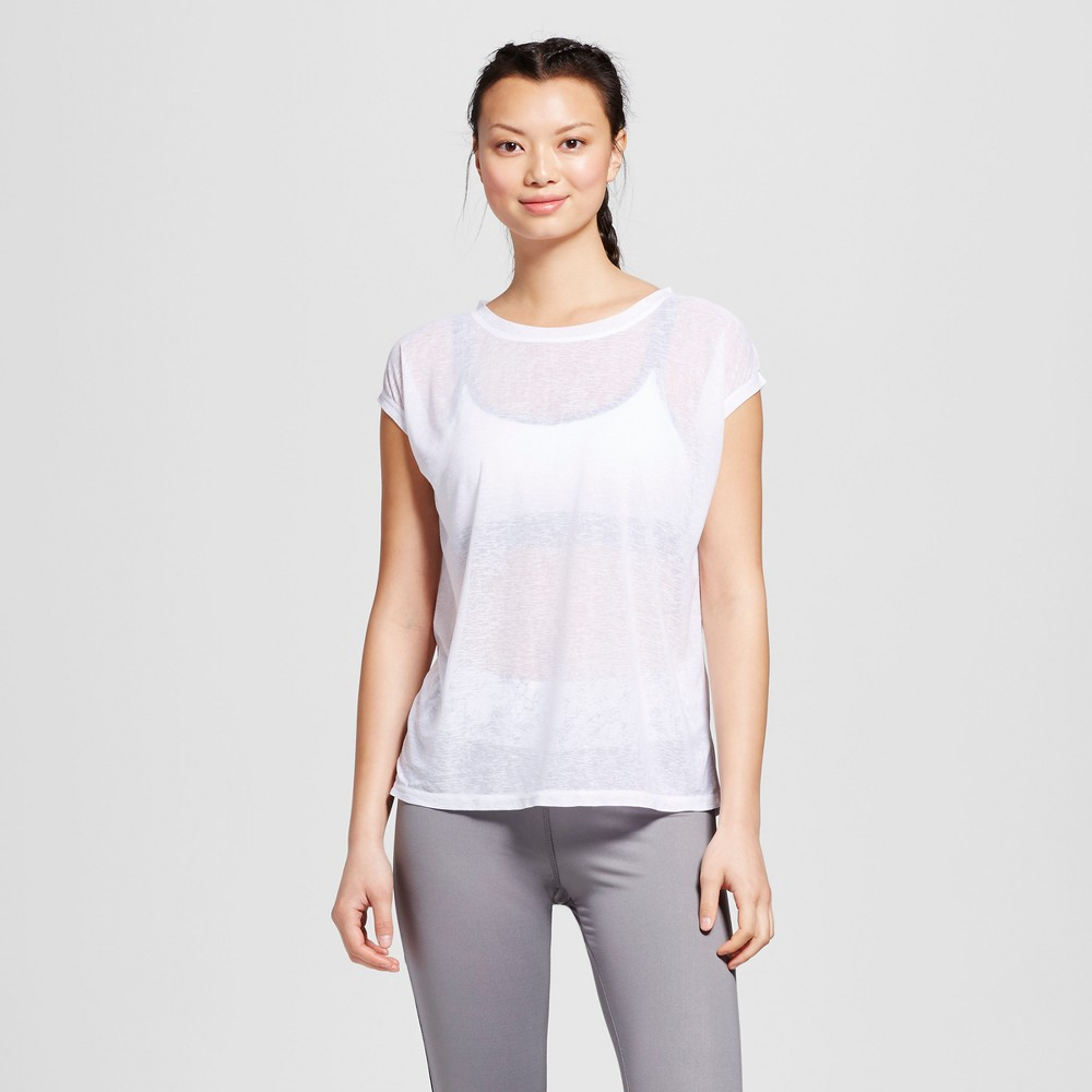 Womens Run Sheer T-Shirt - C9 Champion White Xxl