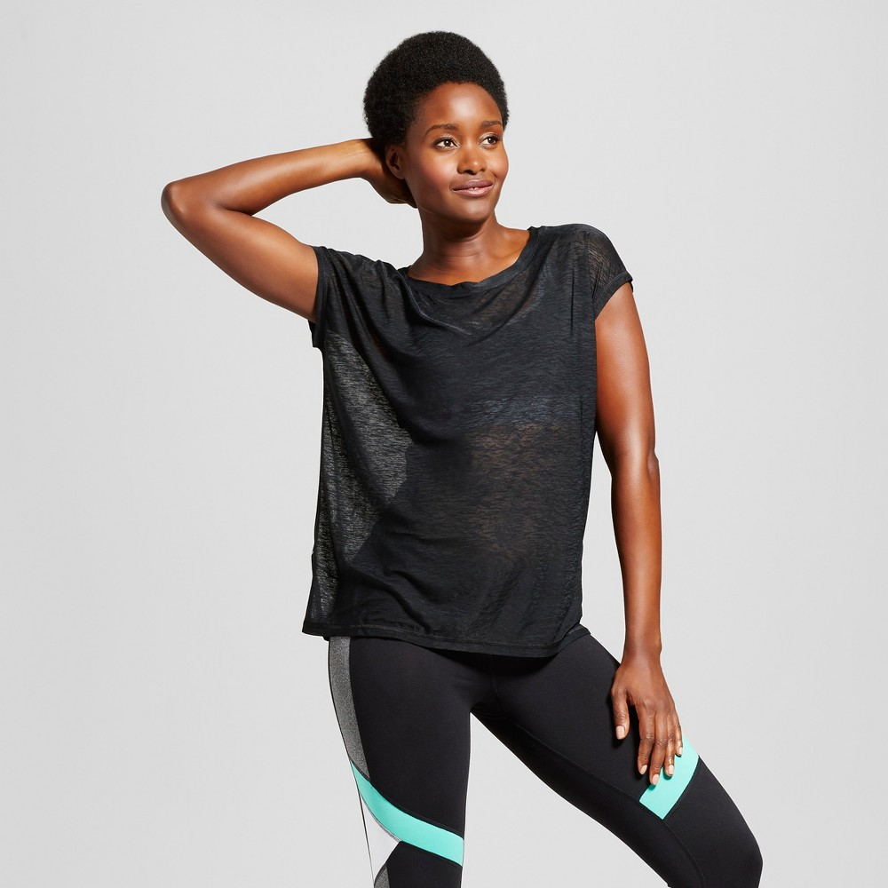 Womens Run Sheer T-Shirt - C9 Champion Black S