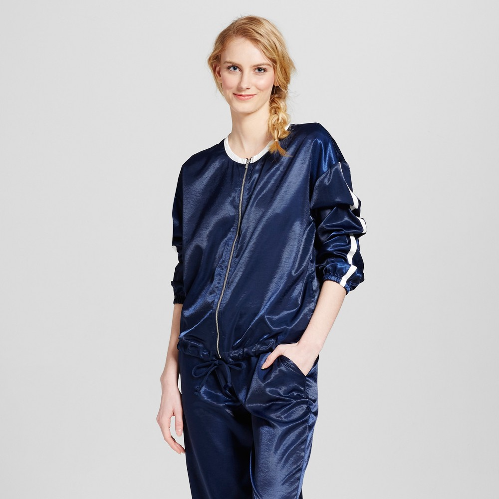 Womens Satin Jacket - Mossimo Supply Co. Navy XL, Blue
