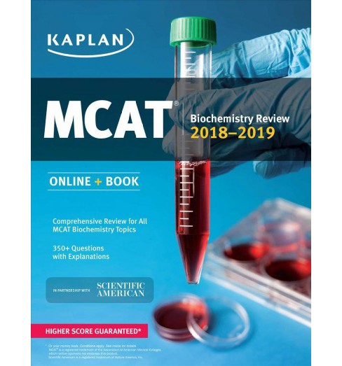 MCAT Biochemistry Review 2018-2019 (Paperback) - image 1 of 1