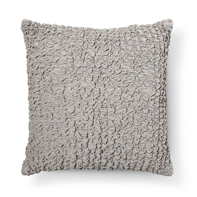 Gray Crinkle Euro Pillow - Xhilaration™