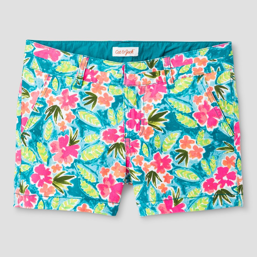 Plus Size Girls Twill Chino Shorts Cat & Jack Teal XL Plus, Blue