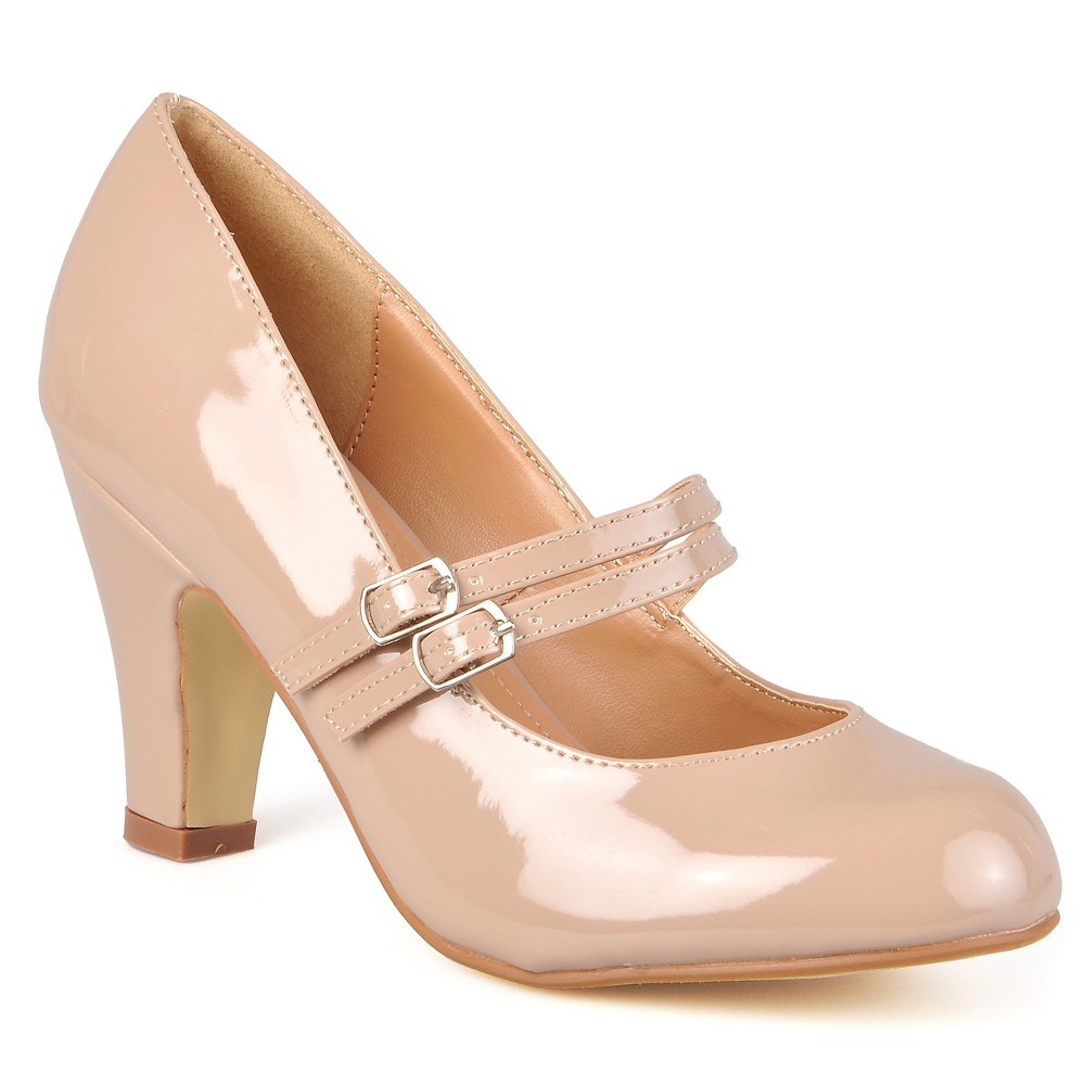 Womens Journee Collection Wide Width Mary Jane Faux Leather Pumps - Pale Blush 7.5W, Size: 7.5 Wide