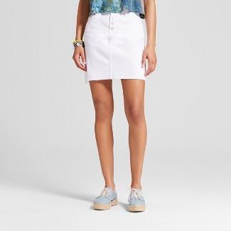 womens white denim skirt : Target