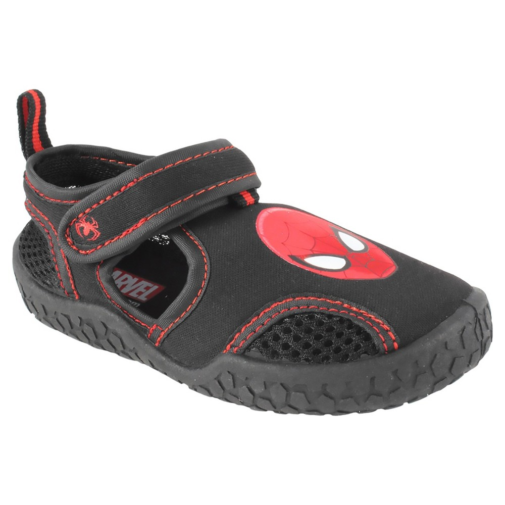 Toddler Boys Spider-Man Water Shoes - Black 12, Black Red