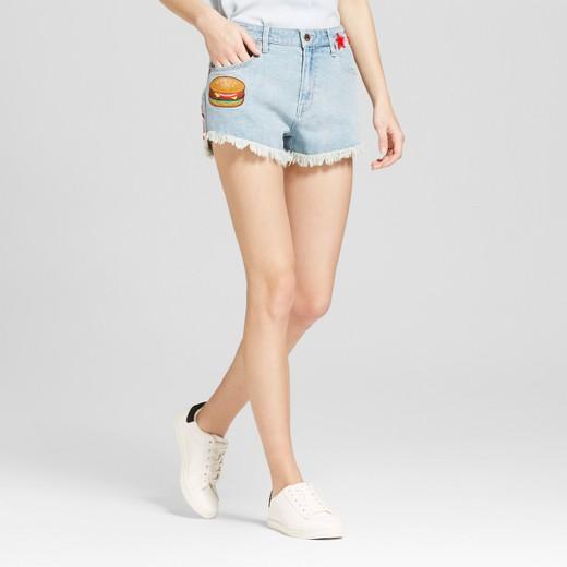 white denim cutoff shorts : Target