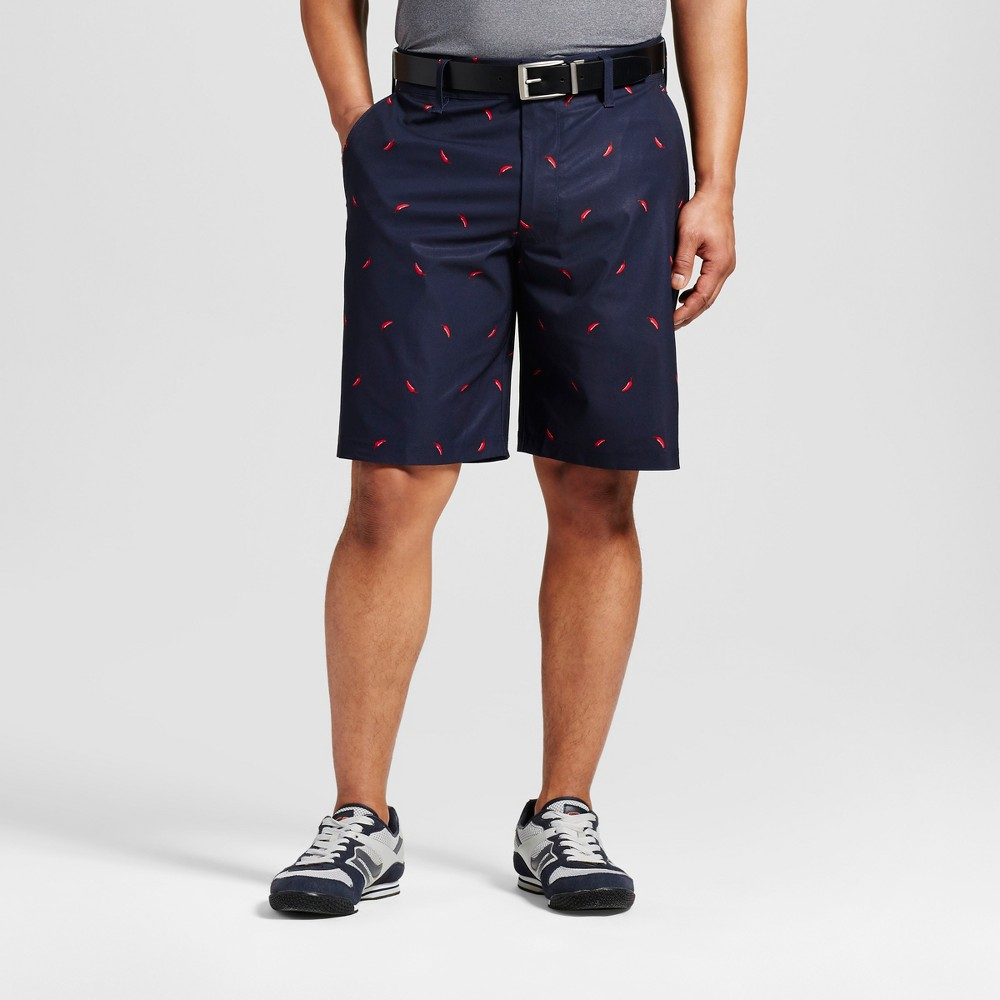 Mens Printed Pepper Golf Shorts - C9 Champion - Navy 32, Blue