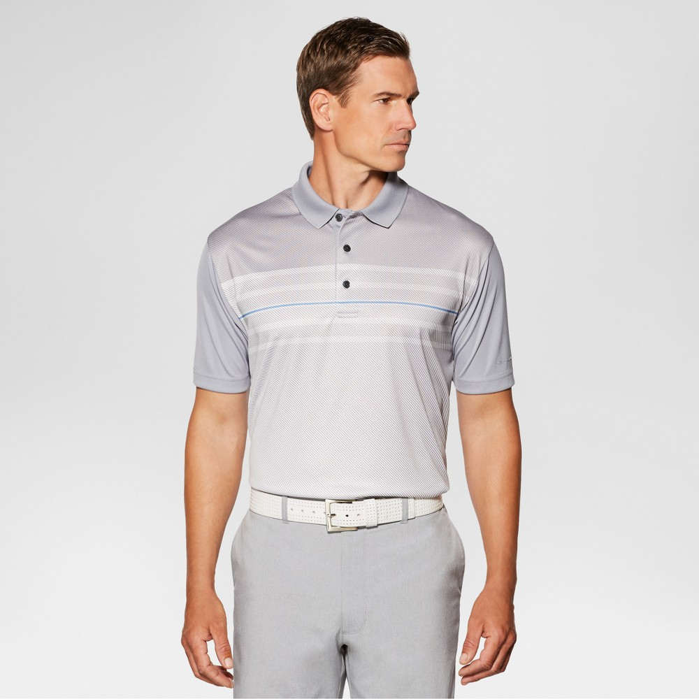 Jack Nicklaus Mens Heather Stripe Golf Polo - Sleet XL, Gray