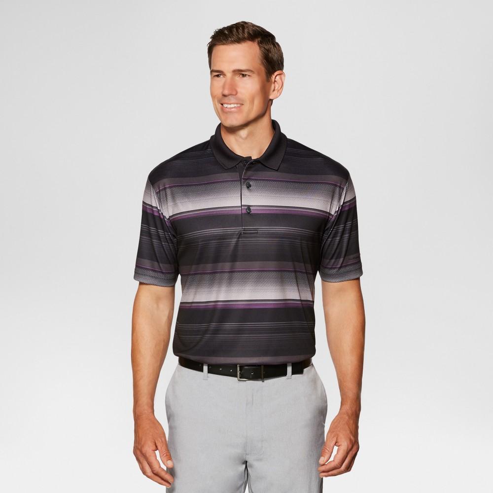Jack Nicklaus Men's Textured Stripe Golf Polo - Black XS