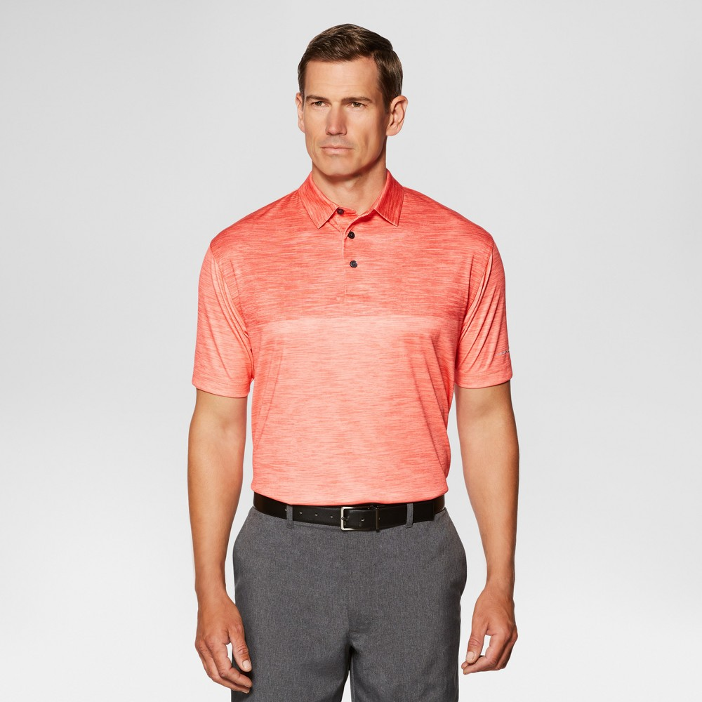 Mens Color Block Golf Polo Shirts - Jack Nicklaus Coral (Pink) S