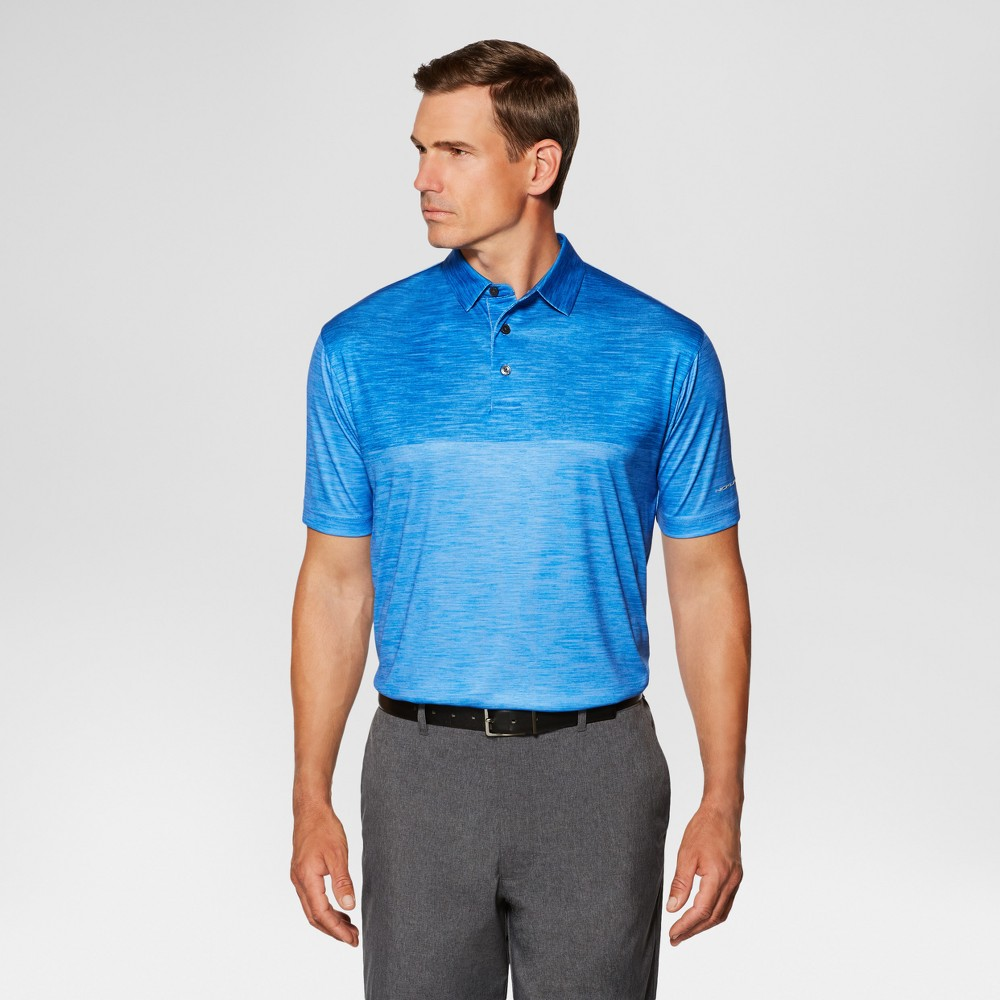 Jack Nicklaus Mens Color Block Golf Polo - Blue XL
