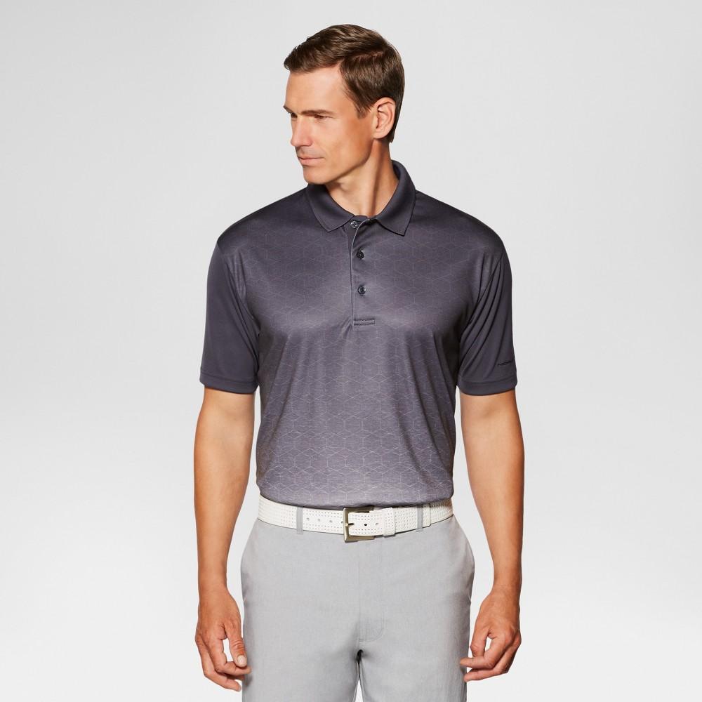 Jack Nicklaus Mens Geo Printed Golf Polo - Asphalt L, Gray