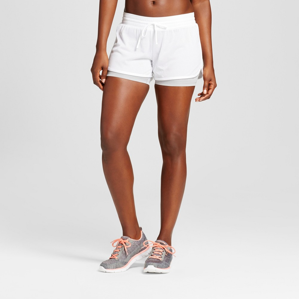 Women's Layer Shorts - C9 Champion - White/Heather Gray S
