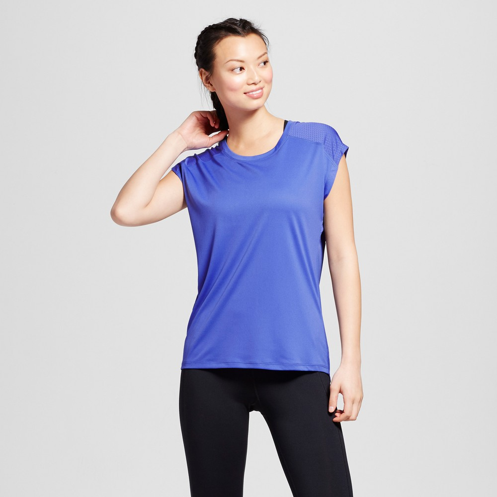 Women's Mesh Run T-Shirt - C9 Champion Steel Blue M