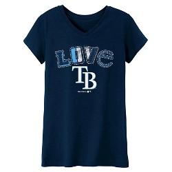 MLB Girls' Love V-Neck T-Shirt