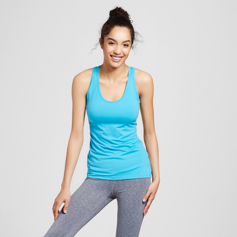 Womens Fitted Tank Top - C9 Champion - Turquoise M