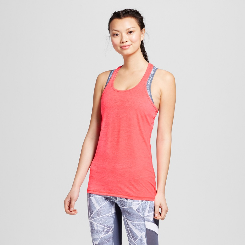 Women's Performance Long Tank Top - C9 Champion - Neon Flare Heather M