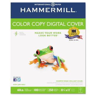 Hammermill Copier Digital Cover Stock 80 lbs. 8 1/2 X 11 Photo White 250 Sheets