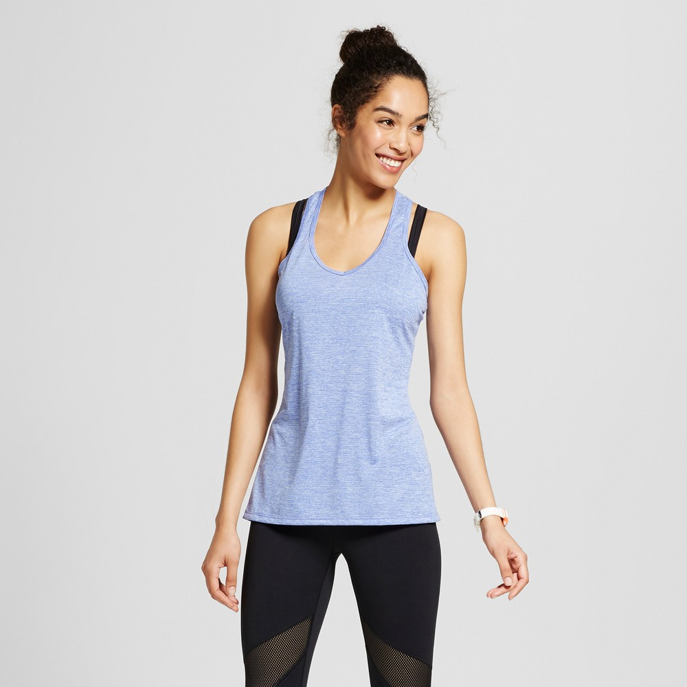 Women's V-Neck Tank Top - C9 Champion - Steel Blue Heather M