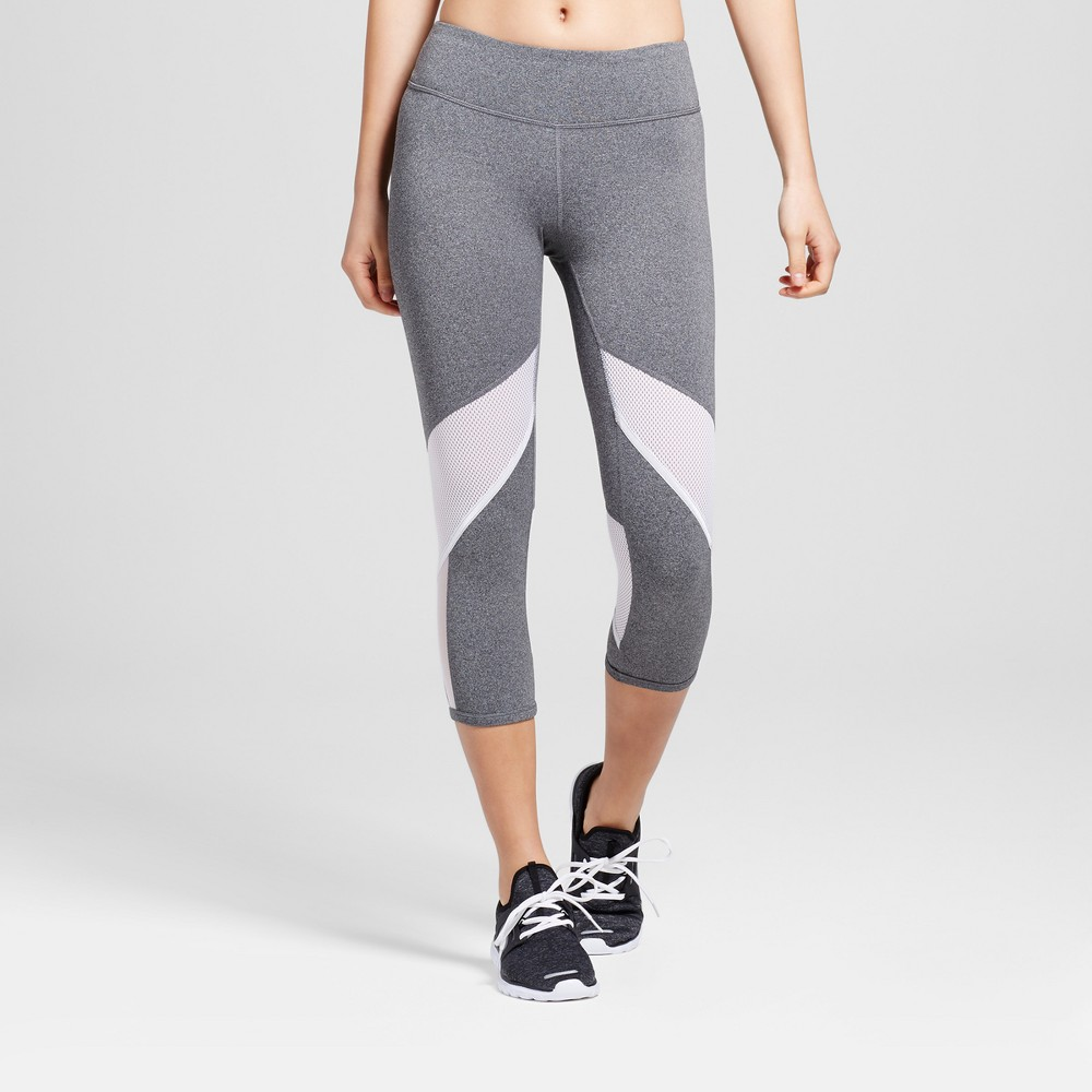 Womens Freedom Mesh Leggings - C9 Champion Black/White Xxl
