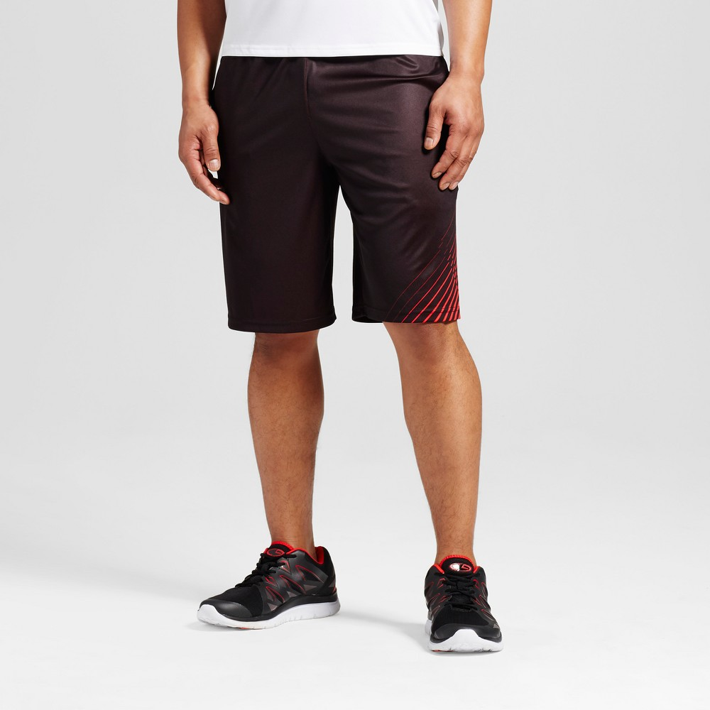 Mens Printed Circuit Shorts - C9 Champion - Scarlet (Red) Xxl