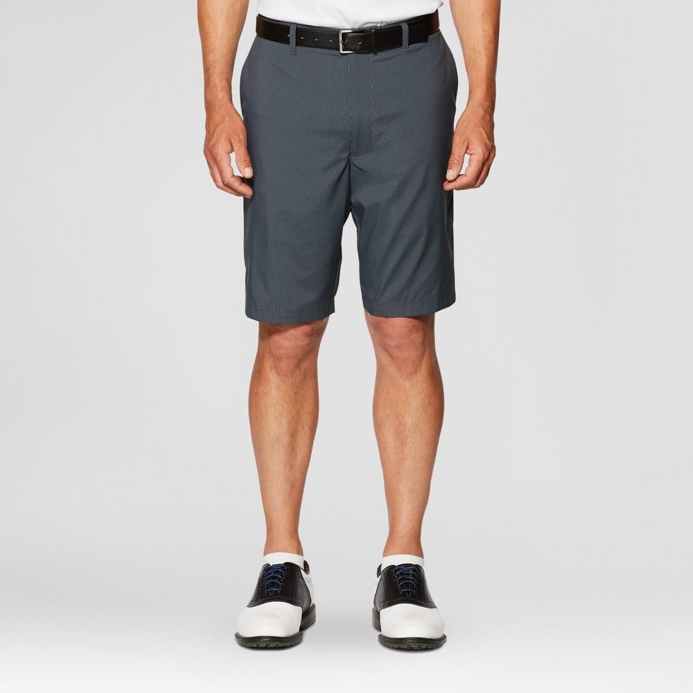 Jack Nicklaus Mens Striped Golf Shorts - Black 40