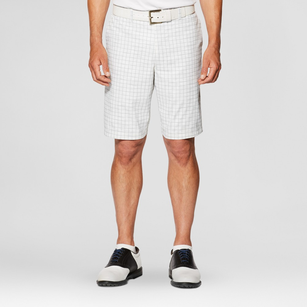 Jack Nicklaus Men's Windowpane Golf Shorts - White 38, Gray White