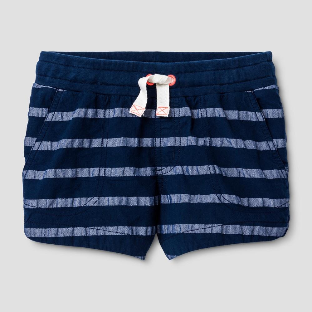 Plus Size Girls Striped Shorts - Cat & Jack Nightfall Blue L Plus