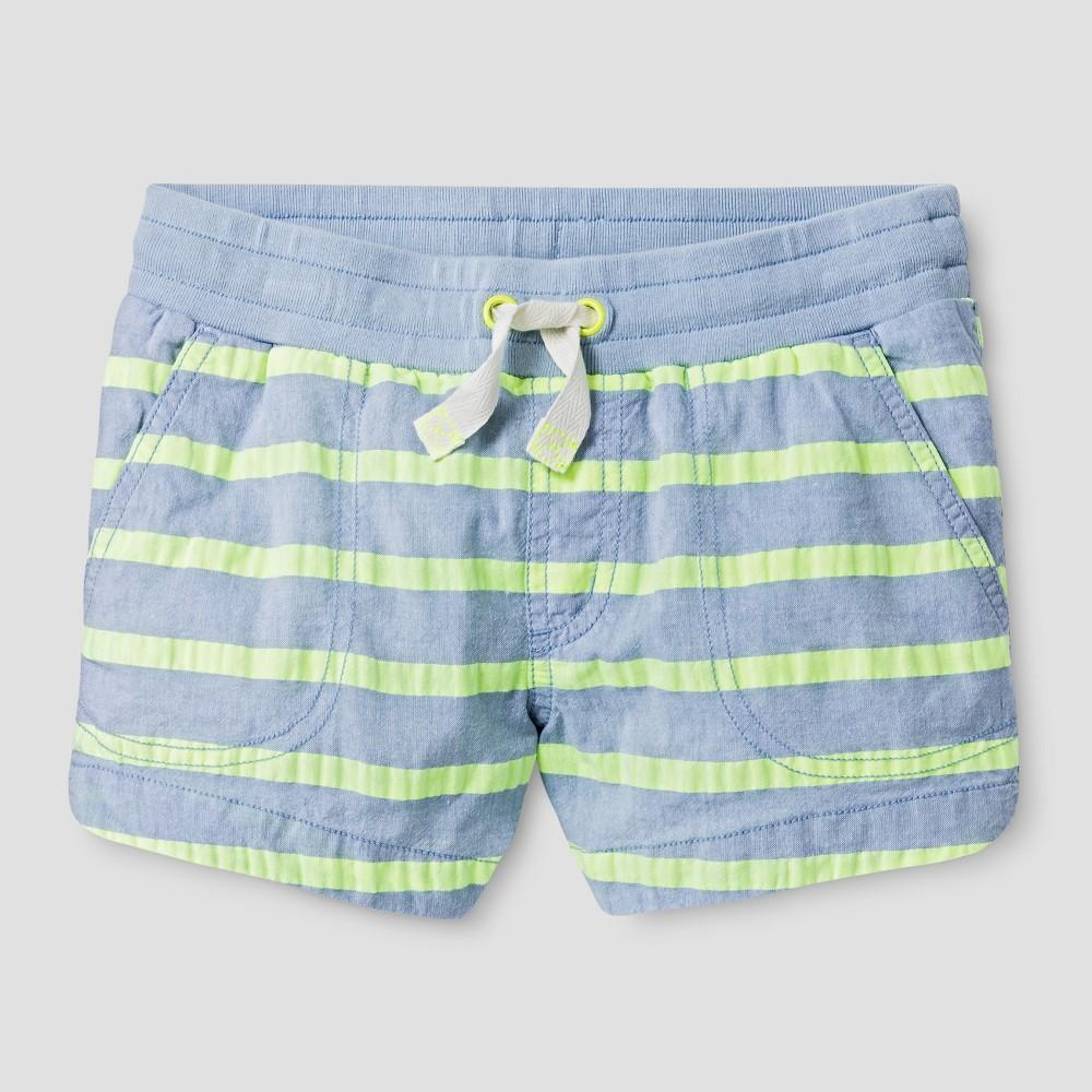 Plus Size Girls Striped Shorts - Cat & Jack Superb Yellow XL Plus