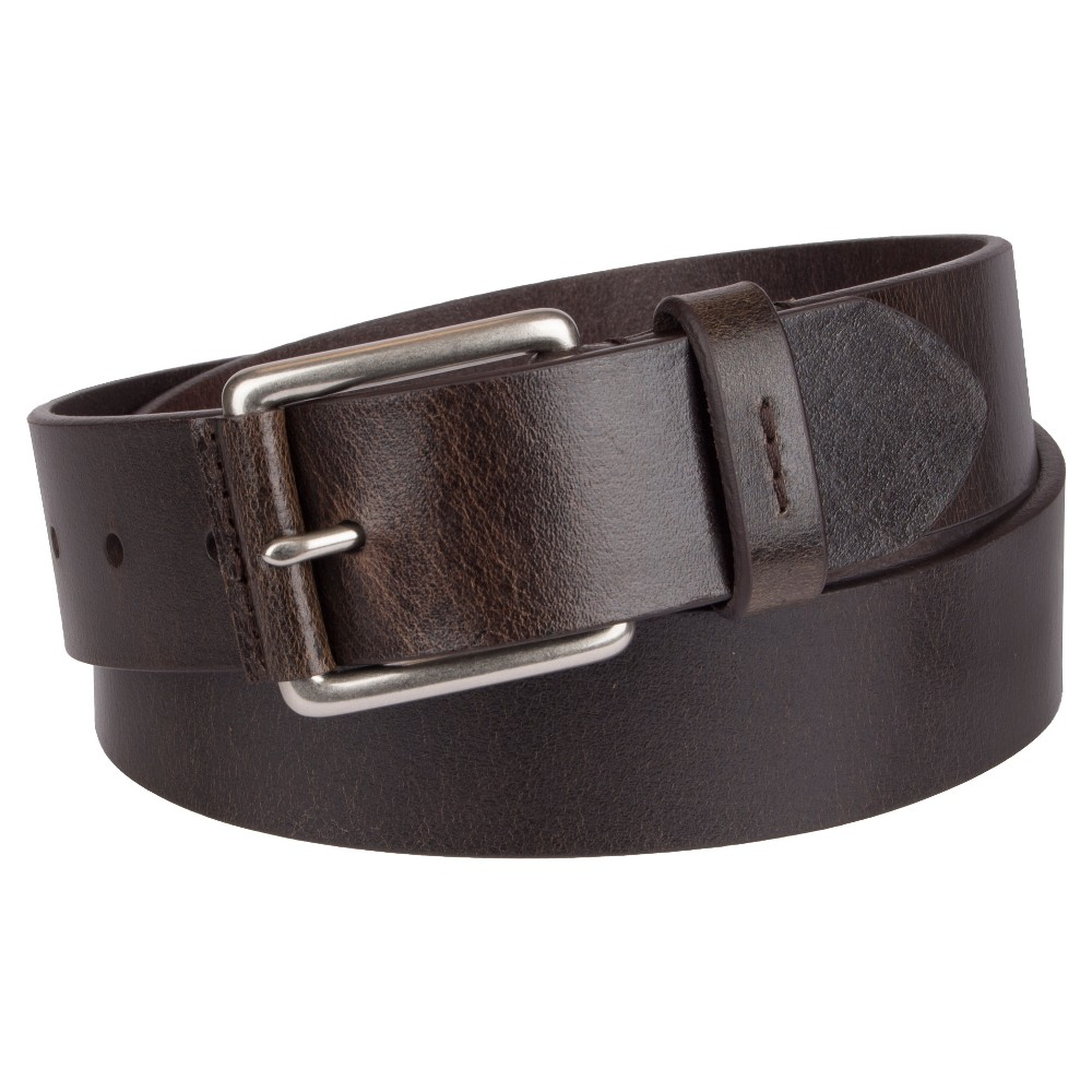 Denizen from Levis Mens Brown Nose Wrap Non-Reversible Belt - Brown M