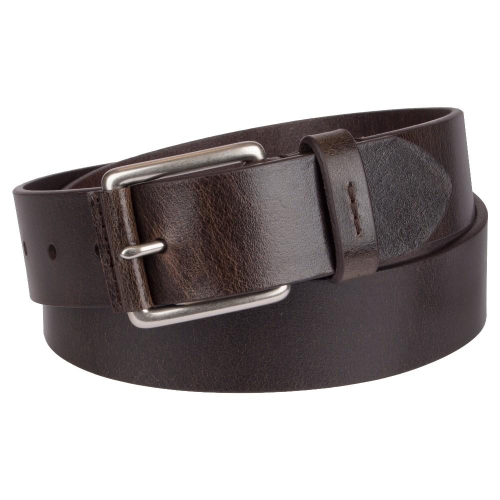 Denizen from Levis Mens Brown Nose Wrap Non-Reversible Belt - Brown XL