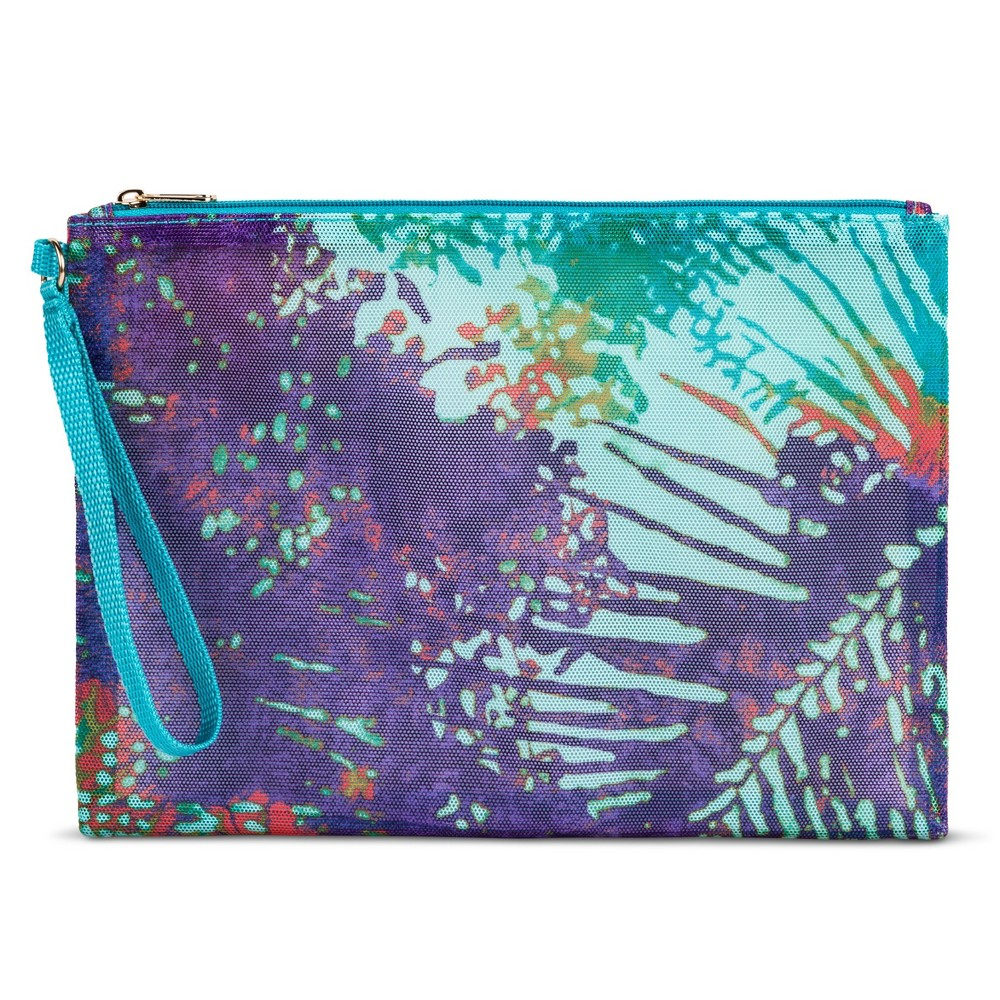 Womens Soft Mesh Pouch - Mossimo Supply Co. Tie Dye Purple