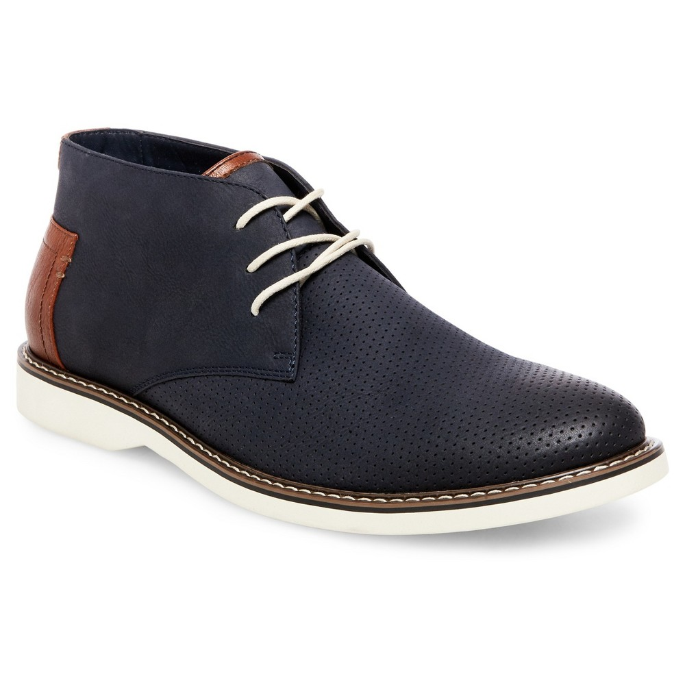 Mens SoHo Cobbler Bruce Chukka Boots - Navy 12, Blue