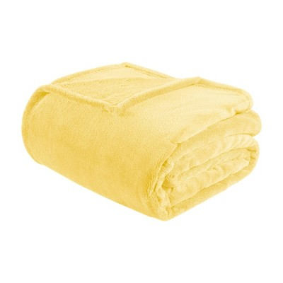 Microlight Plush Blanket (Full/(Queen)Yellow