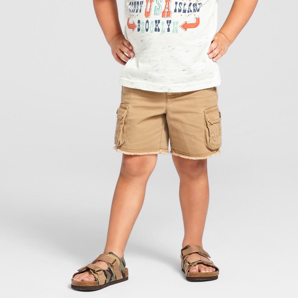 Toddler Boys Cutoff Chino Shorts Genuine Kids from OshKosh Corduroy Brown 2T