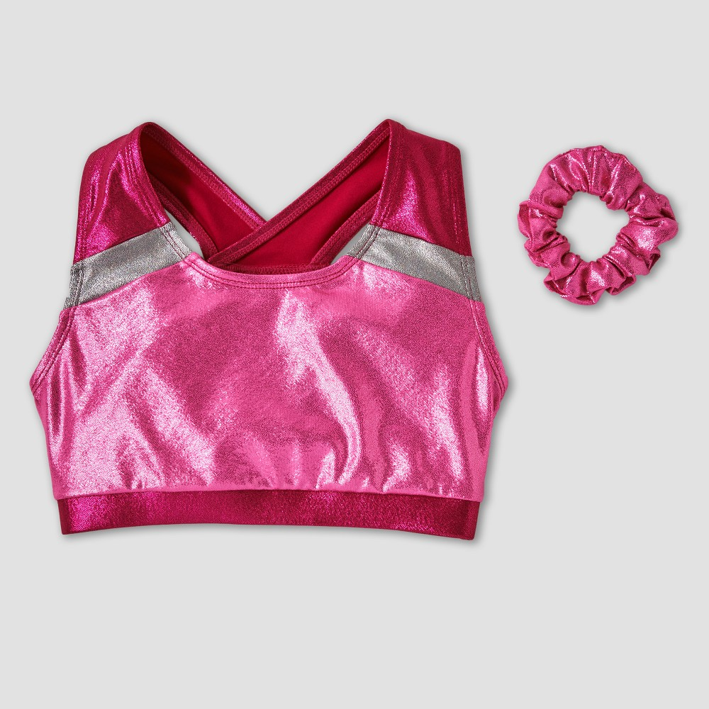 Freestyle by Danskin Girls Elite Gymnastics Bra Top - Pink S