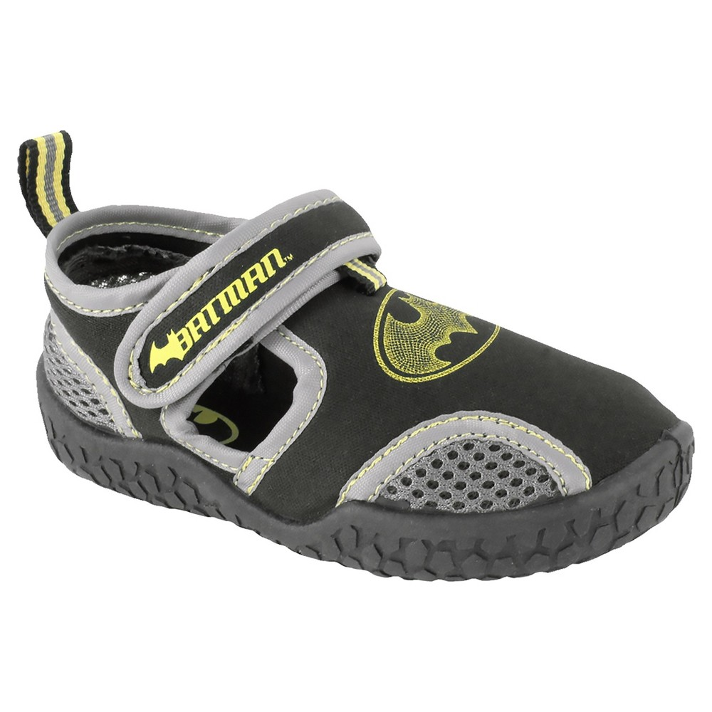 Batman Toddler Boys Water Shoes - Black/Gray 10, Black Gray