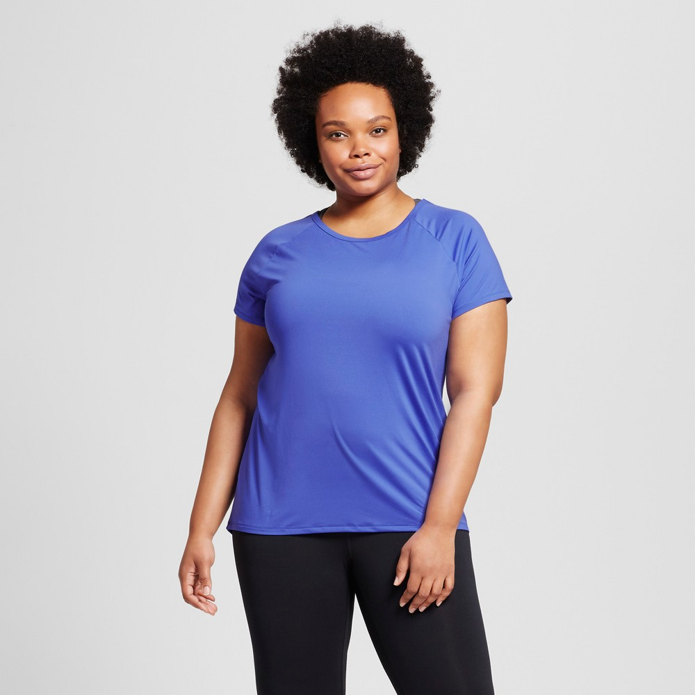 Womens Plus-Size Performance Strappy Back T-Shirt - C9 Champion - Blue 4X, Steel Blue