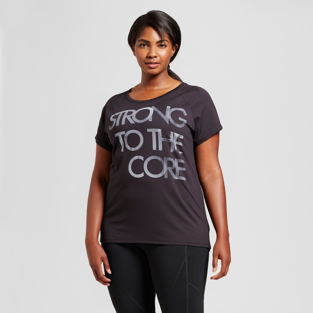 Womens Plus-Size Performance Strappy Back T-Shirt - C9 Champion - Black 2X
