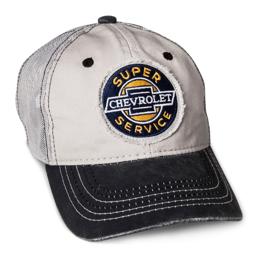 Outdoor Cap Mens Chevy Mesh Back Baseball Cap - Light Gray One Size