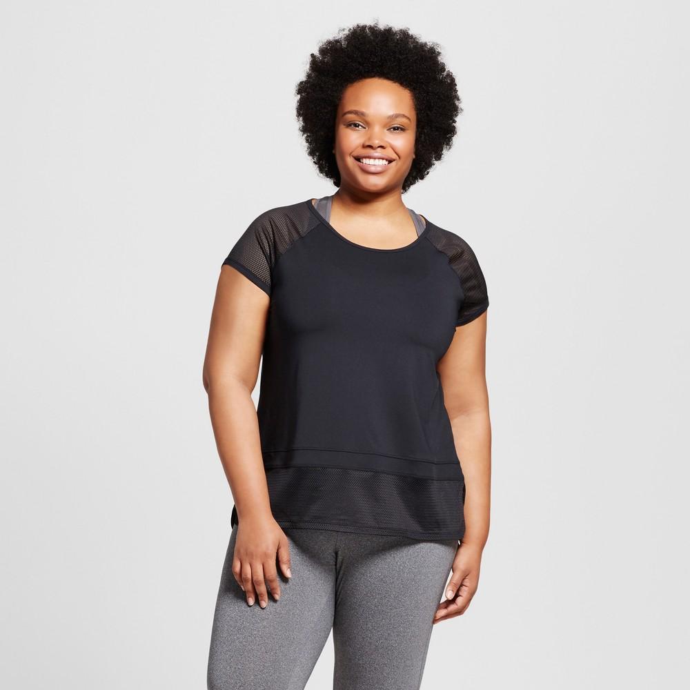 Women's Plus-Size Mesh Blocked T-Shirt - C9 Champion - Black 2X