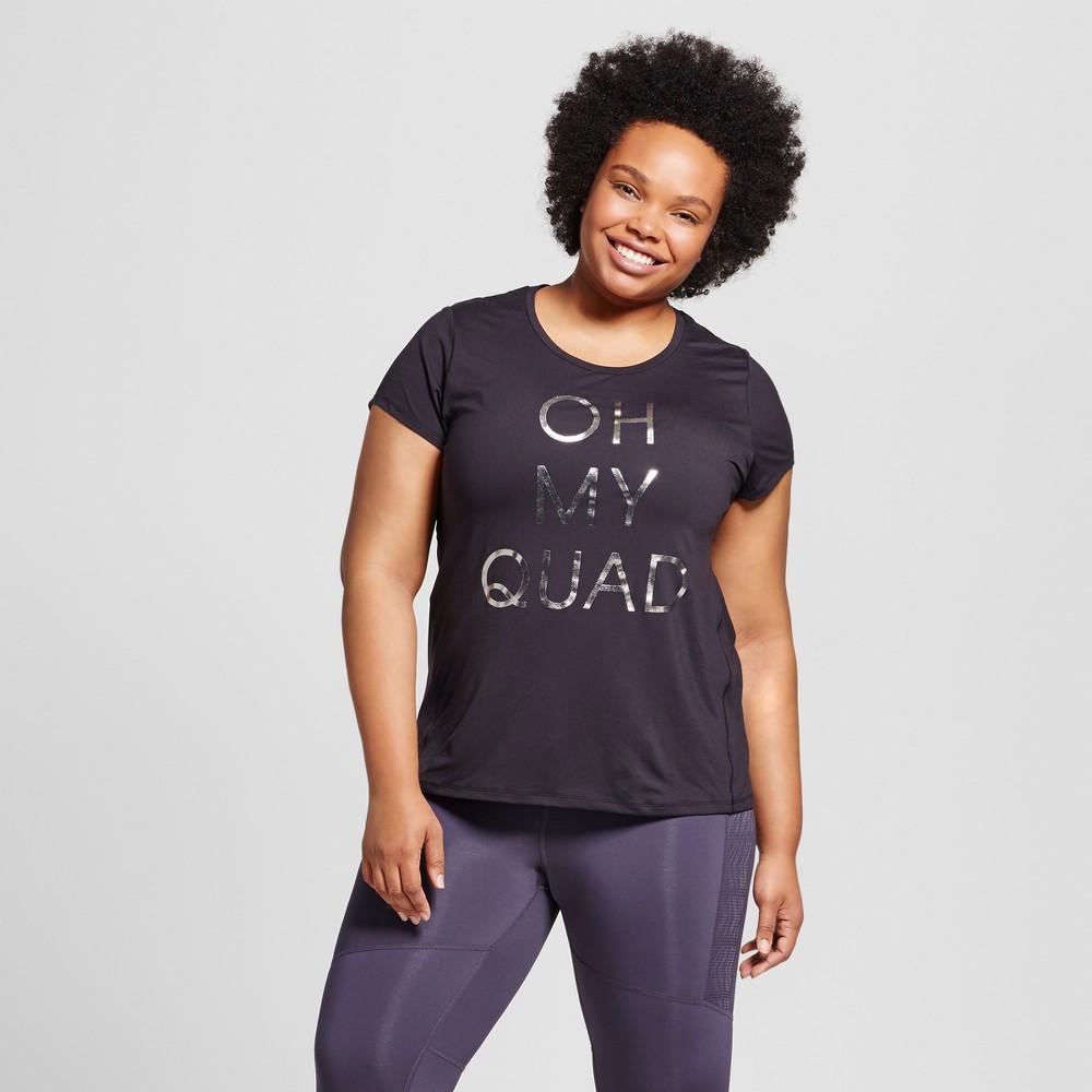 Womens Plus-Size Graphic T-Shirt - C9 Champion - Black, Oh My Quad 3X