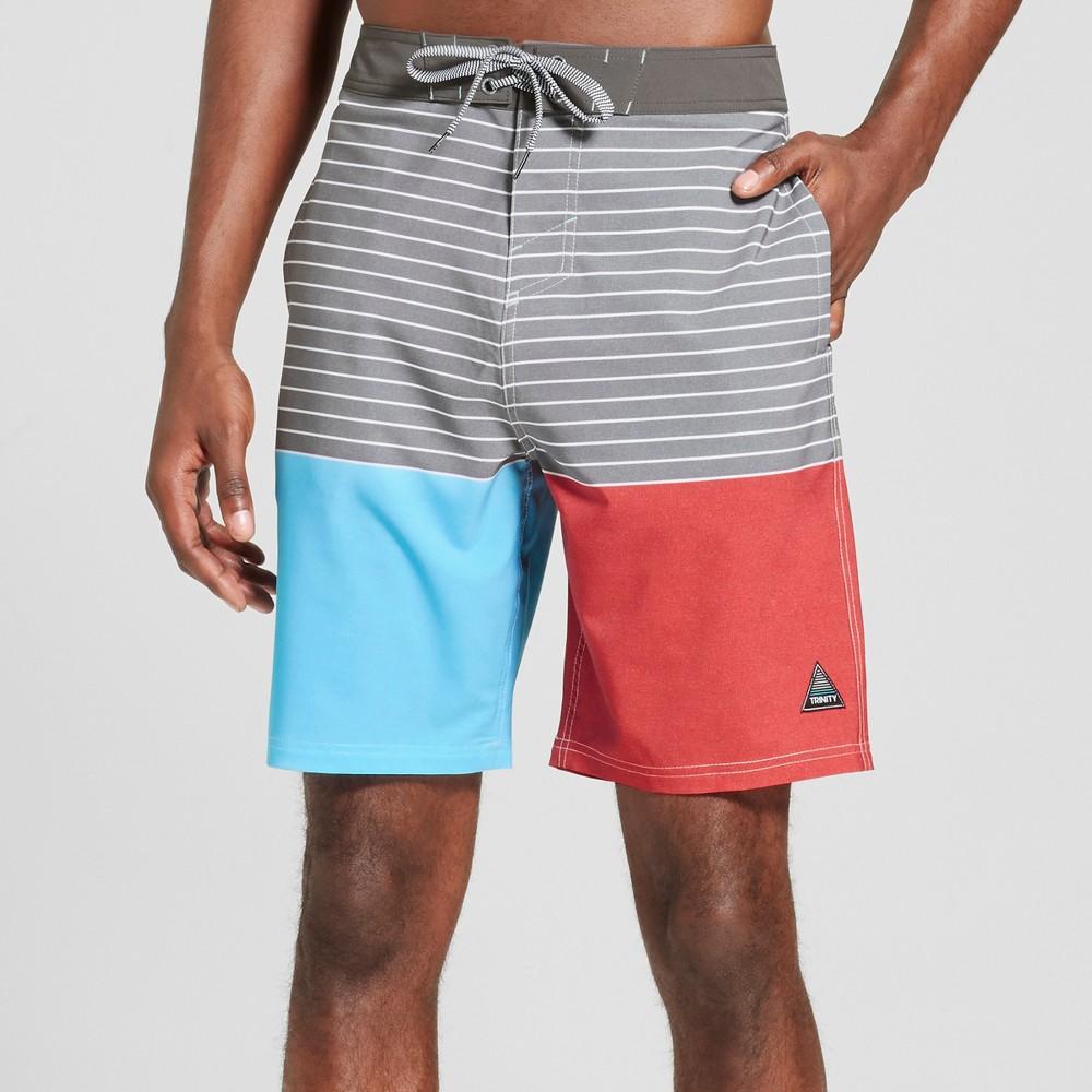 Mens Lefty Board Shorts - Trinity Collective Gray 32