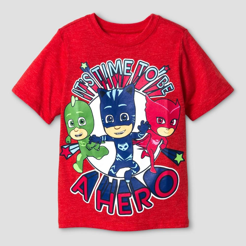 Toddler Boys PJ Masks Short Sleeve T-Shirt - Red 2T