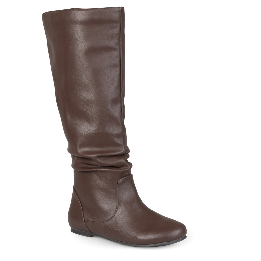 Womens Journee Collection Extra Wide Calf Mid-Calf Slouch Riding Boots - Brown 8 Extra Wide Calf