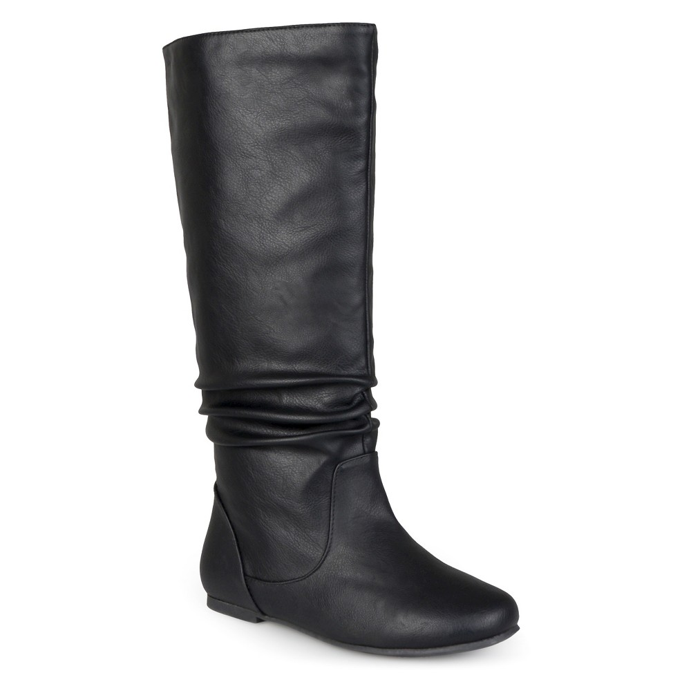 Womens Journee Collection Extra Wide Calf Mid-Calf Slouch Riding Boots - Black 7 Extra Wide Calf