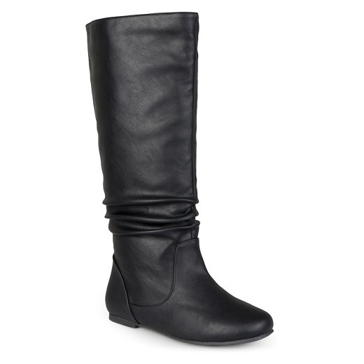 Women's Journee Collection Wide Calf Mid-Calf Slouch Riding Boots ...