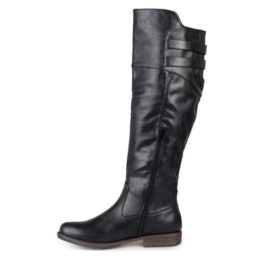 Women's Journee Collection Extra Wide Calf Double Buckle Knee-High ...