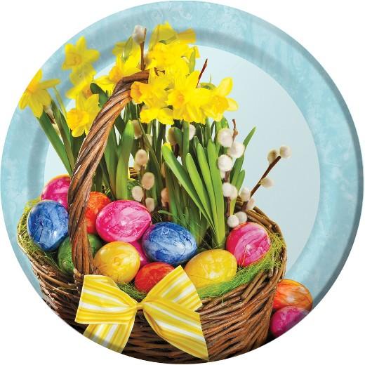Easter basket target 8ct easter basket paper plates negle Gallery