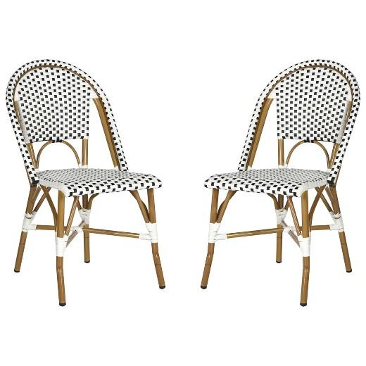 Salcha 2pc All Weather Wicker Indoor/Outdoor Stacking Side Chair ...